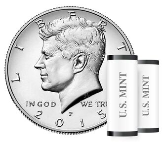 Kennedy 2015 Half Dollar, 2-Roll Set