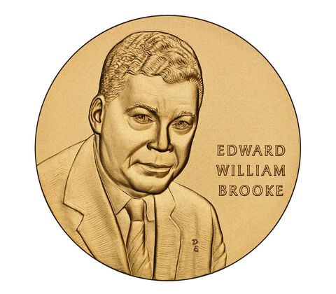 Senator Edward William Brooke III Bronze Medal 1.5 Inch,  image 1