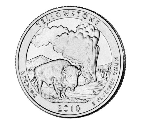 Yellowstone National Park 2010 Quarter, 3-Coin Set,  image 3