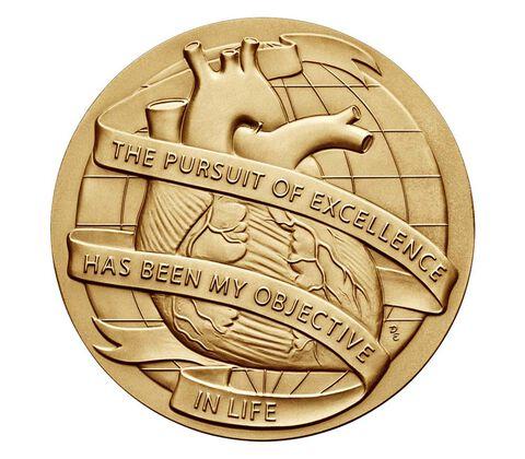 Dr. Michael E. DeBakey, M.D. Bronze Medal 3 Inch,  image 2