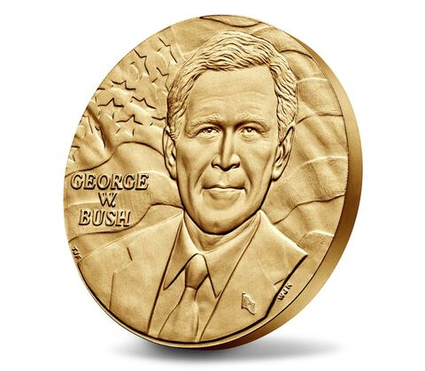 George W. Bush (First Term) Bronze Medal 3 Inch,  image 3