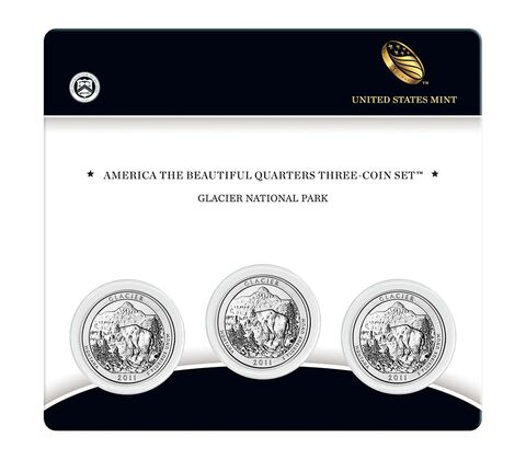 Glacier National Park 2011 Quarter, 3-Coin Set