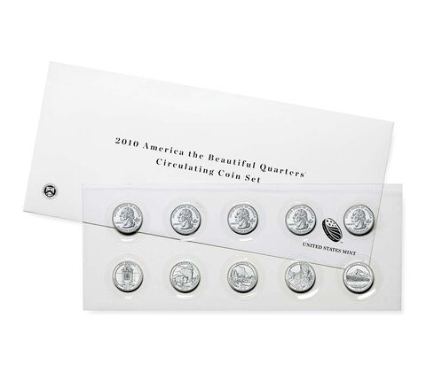America the Beautiful Quarters 2010 Circulating Coin Set