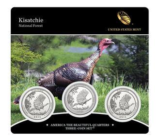 Kisatchie National Forest 2015 Quarter, 3-Coin Set