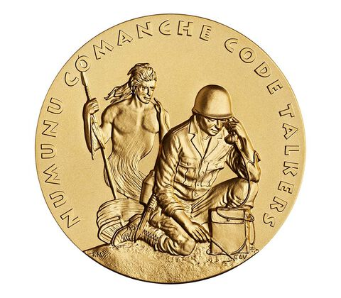 Comanche Nation Tribe Code Talkers Bronze Medal 3 Inch,  image 1