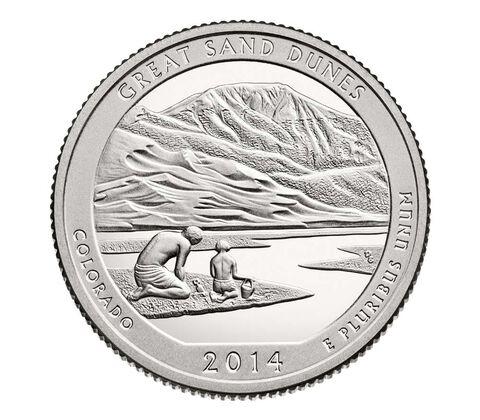 Great Sand Dunes National Park 2014 Quarter, 3-Coin Set,  image 3