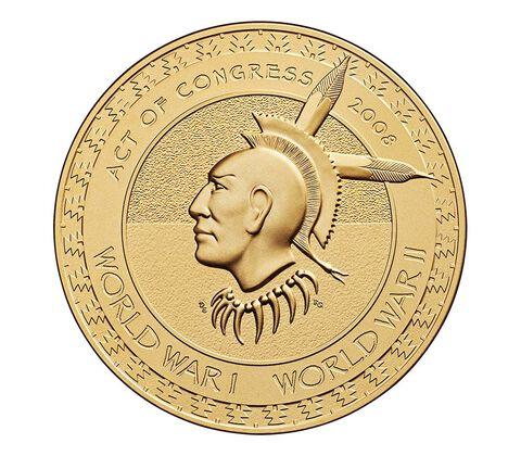 Meskwaki Nation Code Talkers Bronze Medal 3 Inch,  image 2