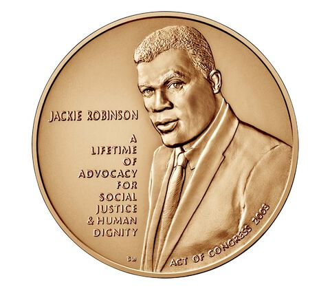 Jackie Robinson Bronze Medal 1.5 Inch