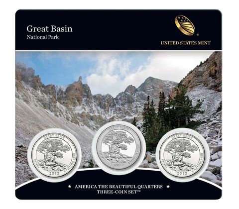 Great Basin National Park 2013 Quarter, 3-Coin Set
