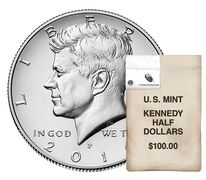 Kennedy 2016 Half Dollar, 200-Coin Bag