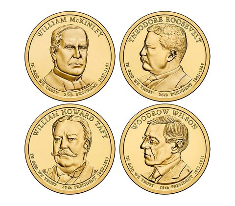 Presidential 2013 One Dollar Four-Coin Set