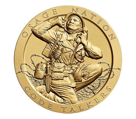 Osage Nation Tribe Code Talkers Bronze Medal 3 Inch