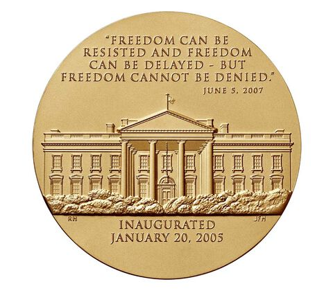 George W. Bush (Second Term) Bronze Medal 3 Inch,  image 2