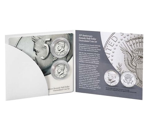 50th Anniversary Kennedy 2014 Half-Dollar Uncirculated Coin Set,  image 2