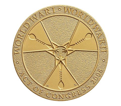 Crow Creek Sioux Tribe Code Talkers Bronze Medal 3 Inch,  image 2