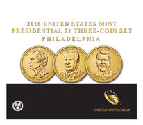 Presidential 2016 One Dollar Three-Coin Set