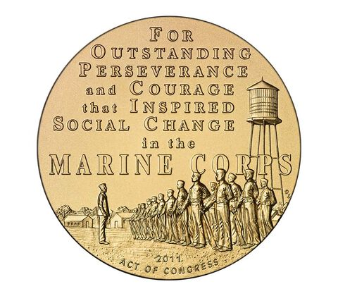 Montford Point Marines Bronze Medal 3 Inch,  image 2