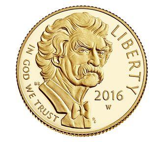 Mark Twain 2016 $5 Gold Proof Coin