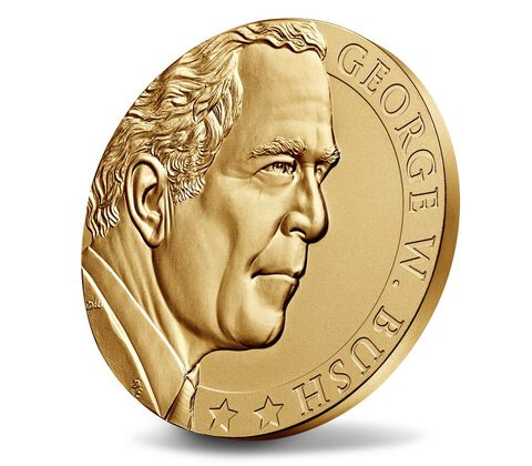 George W. Bush (Second Term) Bronze Medal 3 Inch,  image 3