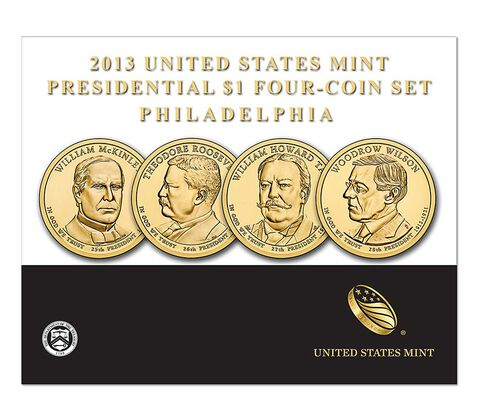 Presidential 2013 One Dollar Four-Coin Set,  image 2