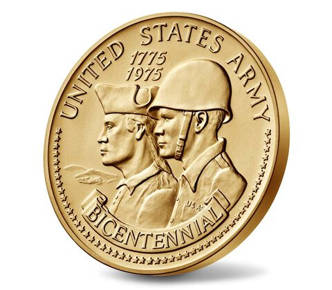 United States Army Bicentennial Bronze Medal 3 Inch,  image 3