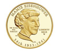 Mamie Eisenhower 2015 First Spouse Series One-Half Ounce Gold Proof Coin