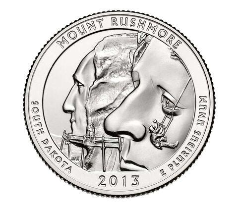 Mount Rushmore National Memorial 2013 Quarter, 3-Coin Set,  image 4