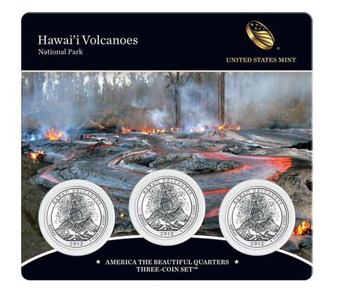 Volcanoes National Park 2012 Quarter, 3-Coin Set