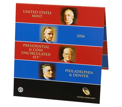 Presidential 2014 One Dollar Coin Uncirculated Set,  image 2