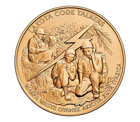 Cheyenne River Sioux Tribe Code Talkers Bronze Medal 1.5 Inch