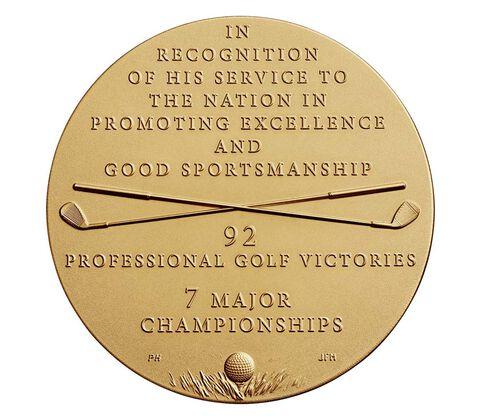 Arnold Palmer Bronze Medal 3 Inch,  image 2