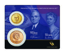 Harry S. Truman 2015 Presidential $1 Coin & First Spouse Medal Set