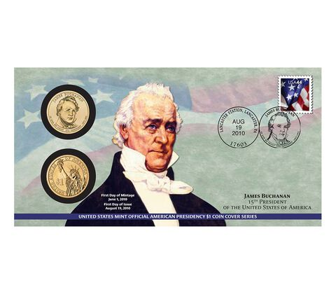 James Buchanan 2010 One Dollar Coin Cover