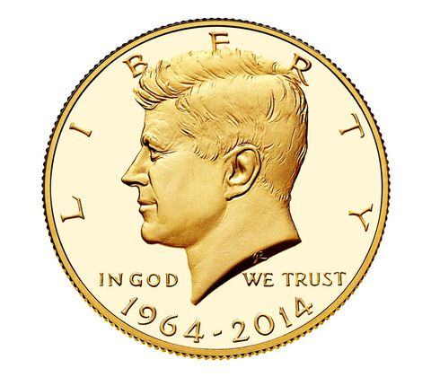 50th Anniversary Kennedy 2014 Half-Dollar Gold Proof Coin