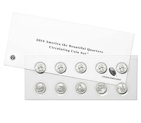 America the Beautiful Quarters 2014 Circulating Coin Set