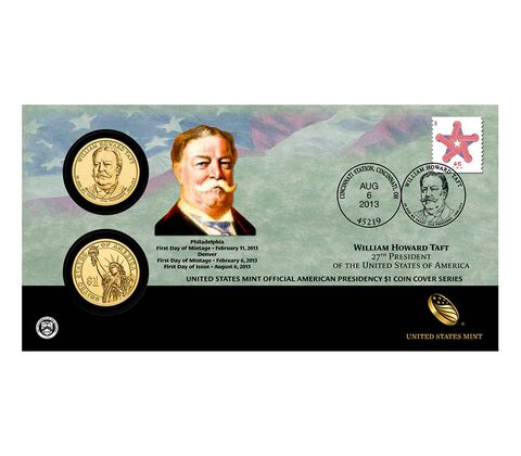 William Howard Taft 2013 One Dollar Coin Cover,  image 1