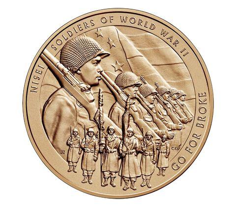 Nisei Soldiers of World War II Bronze Medal 1.5 Inch