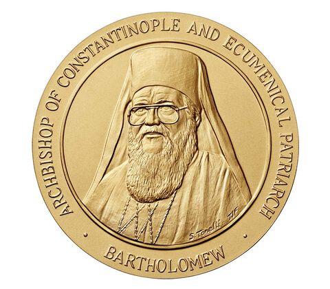 Ecumenical Patriarch Bartholomew Bronze Medal 1.5 Inch