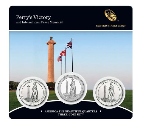Perry's Victory and International Peace Memorial 2013 Quarter, 3-Coin Set
