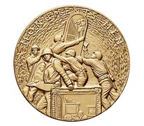Monuments Men Bronze Medal 3 Inch