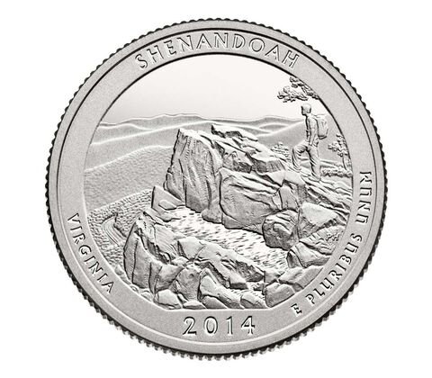 Shenandoah National Park 2014 Quarter, 3-Coin Set,  image 3
