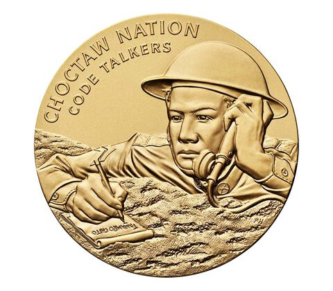 Choctaw Nation Tribe Code Talkers Bronze Medal 3 Inch