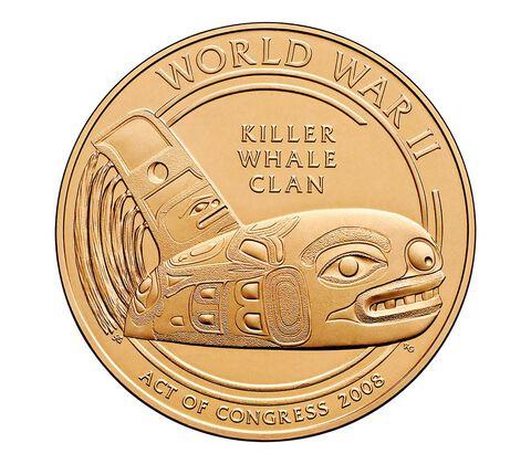 Tlingit Tribe Code Talkers Bronze Medal 1.5 Inch,  image 2