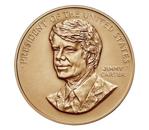 Jimmy Carter Bronze Medal 1 5/16 Inch