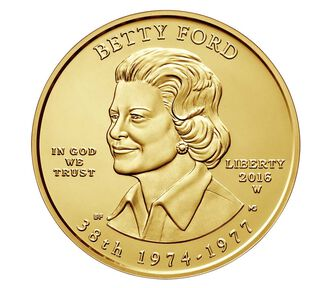 Betty Ford 2016 First Spouse Series One-Half Ounce Gold Uncirculated Coin