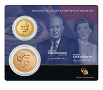 Dwight D. Eisenhower 2015 Presidential $1 Coin & First Spouse Medal Set
