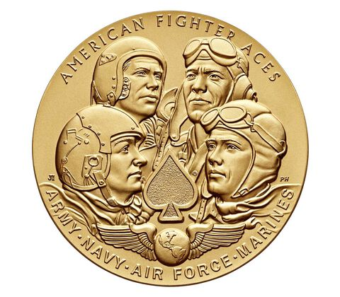 American Fighter Aces Bronze Medal 1.5 Inch