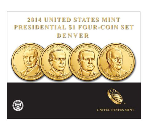 Presidential 2014 One Dollar Four-Coin Set,  image 2