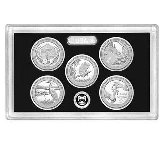 America the Beautiful Quarters 2015 Silver Proof Set