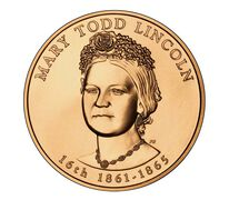 Mary Todd Lincoln 2010 Bronze Medal 1-5/16 Inch